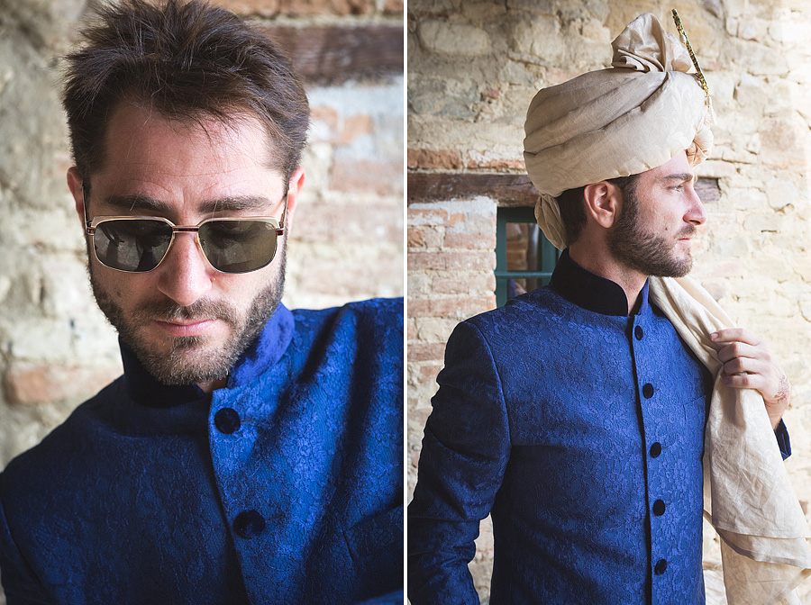 023-sherwani-groom-getting-ready-turban-indian-wedding-in-umbria