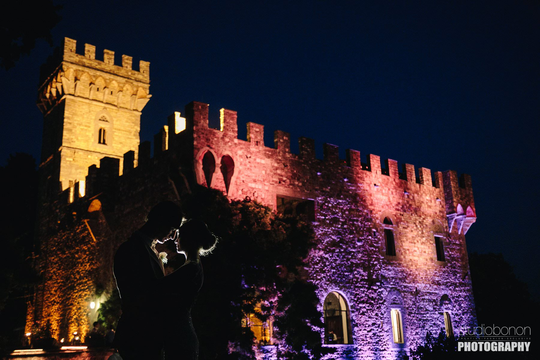 Gorgeous wedding venue in Tuscany. Vincigliata Castle near Florence into the countryside