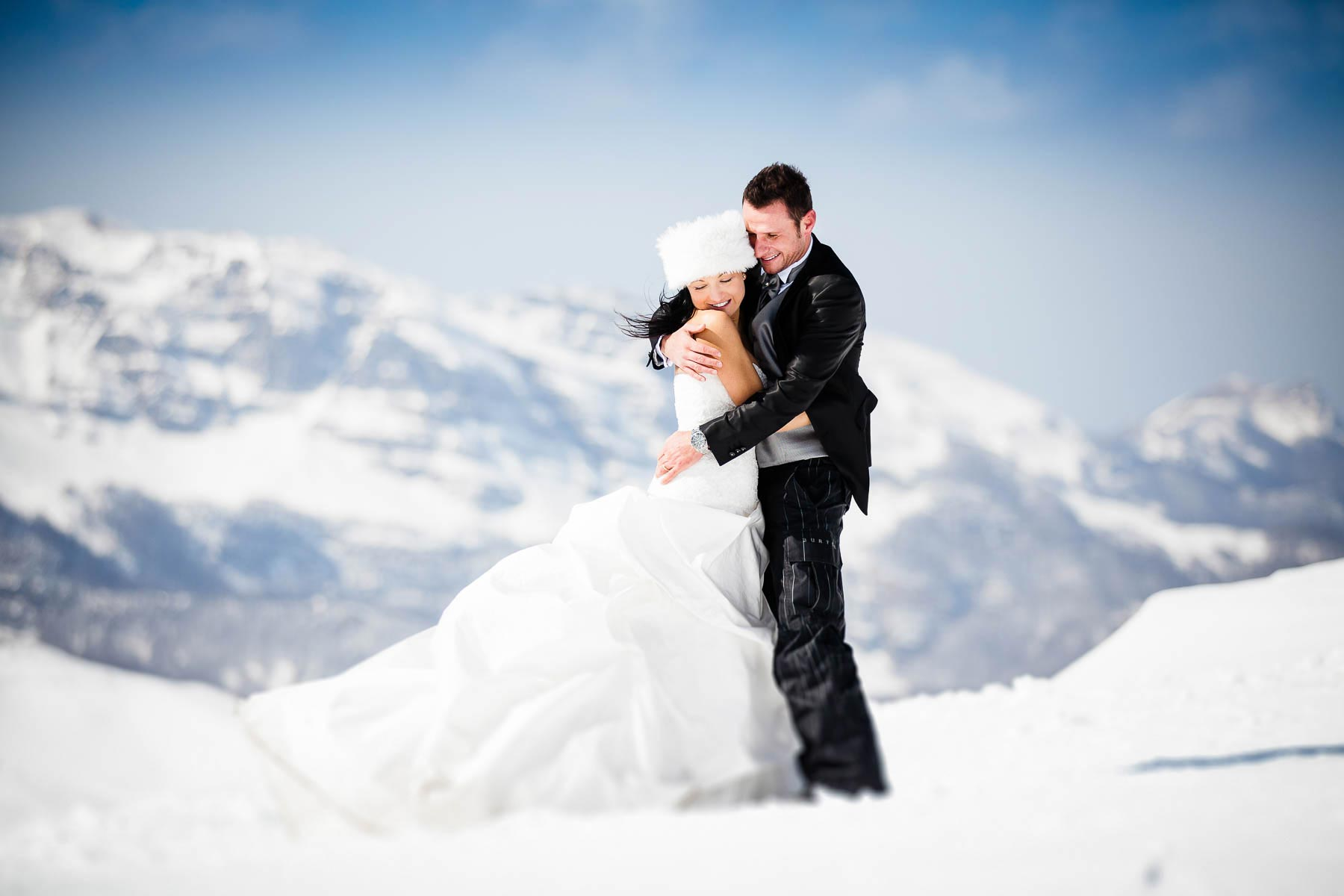 Snow Trash the dress experience in Tuscany
