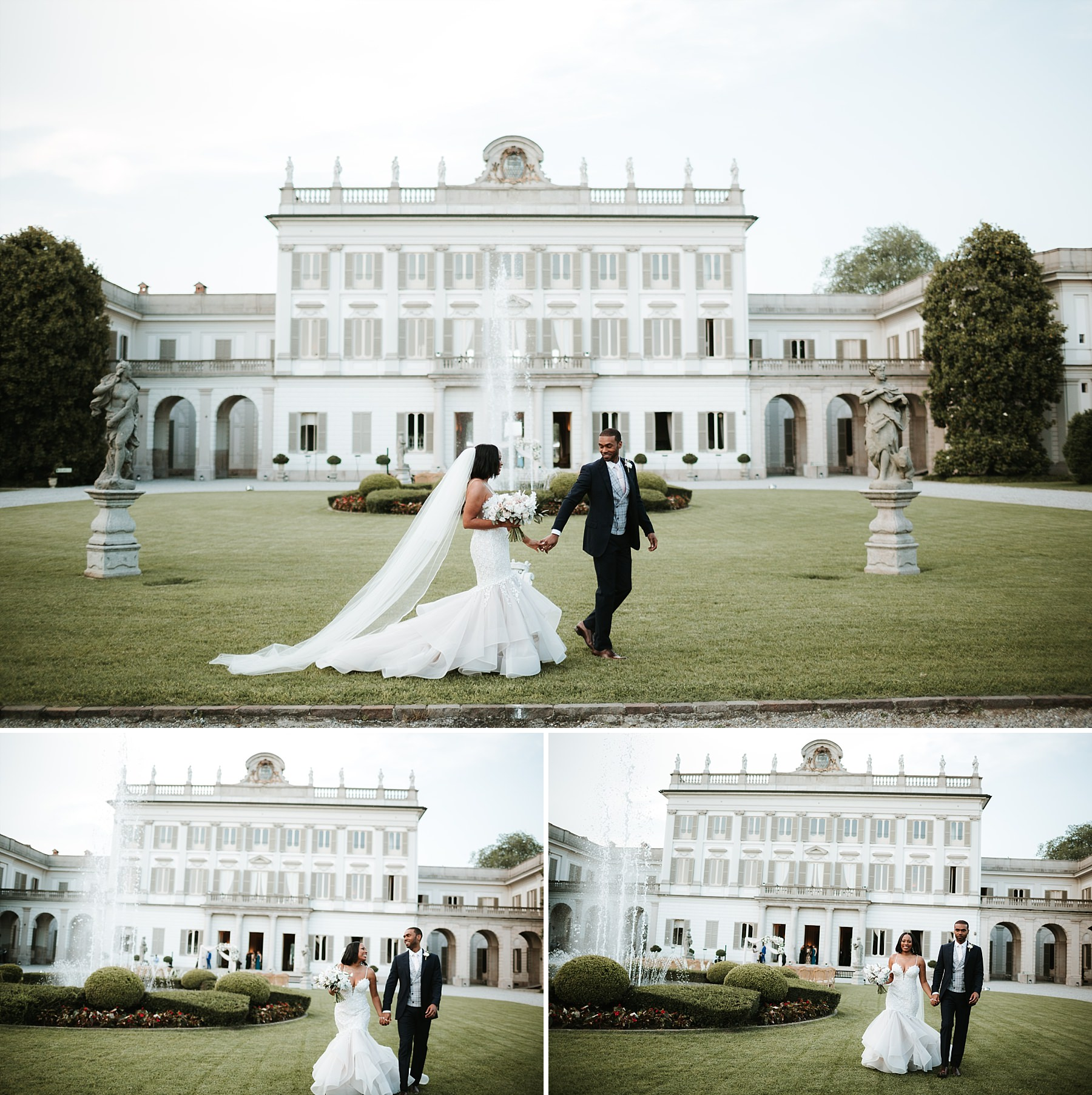 Bride & Groom portrait at Villa Borromeo Cassano d'Adda.