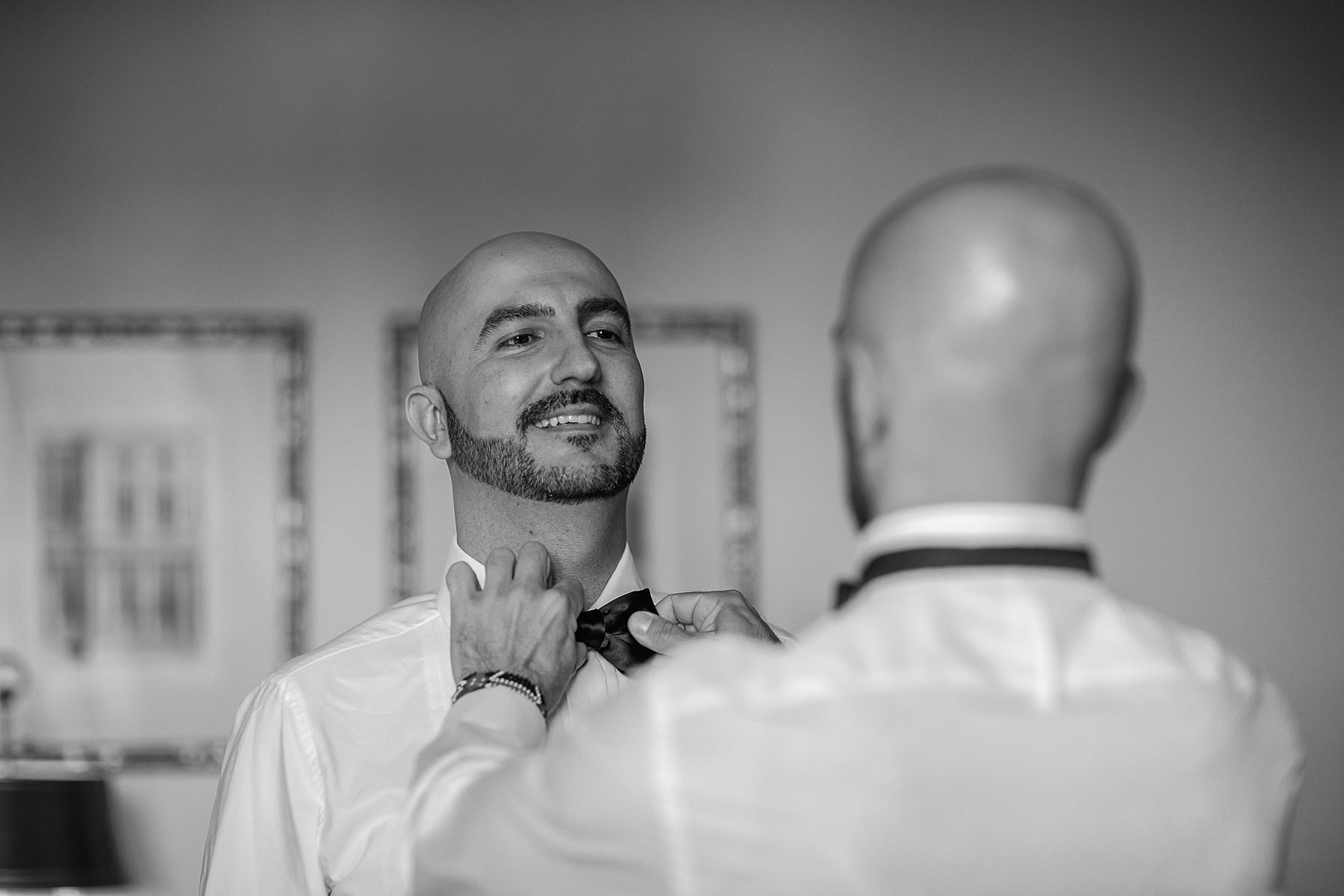 groom getting ready Four Seasons hotel Florence